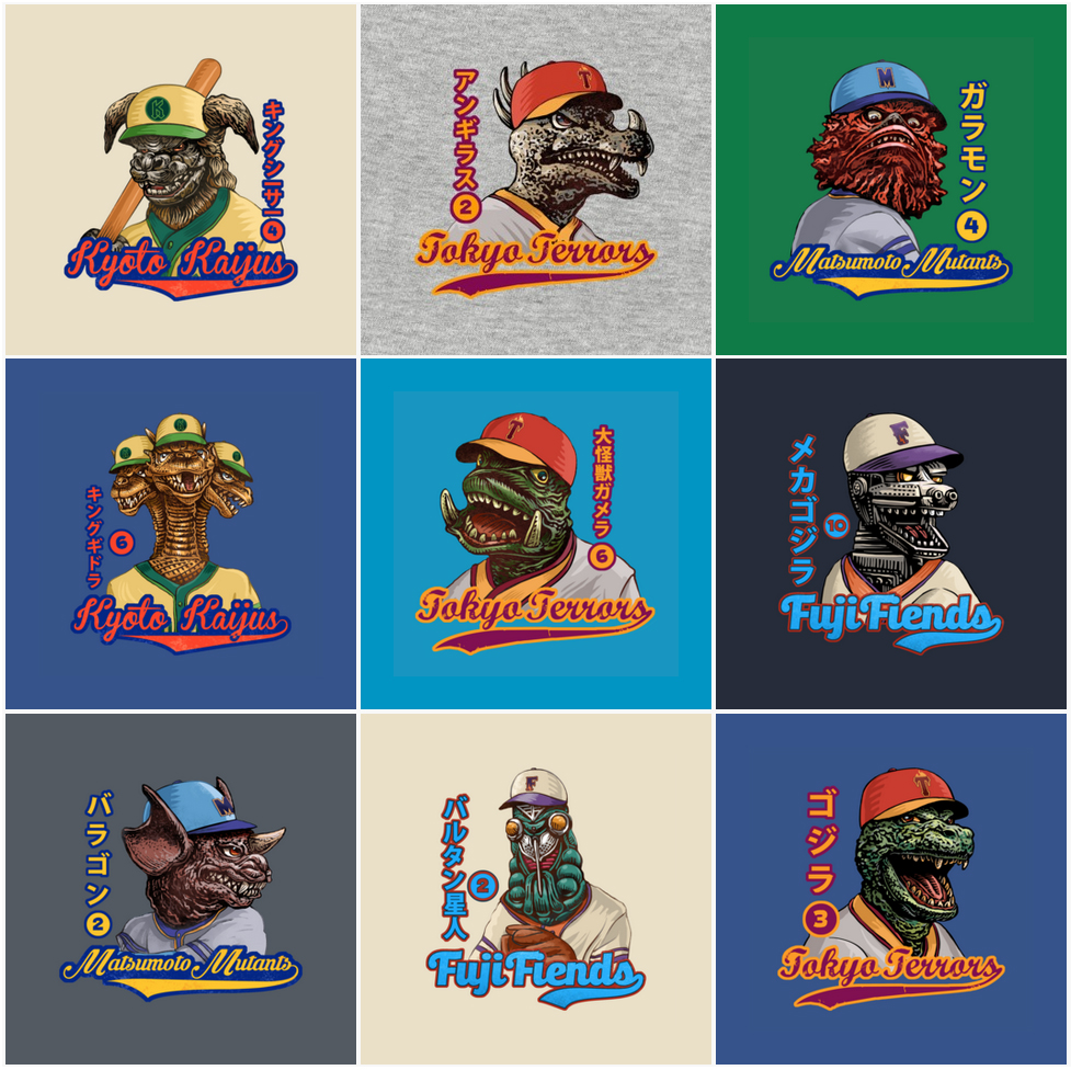 KaijuShirtSelection